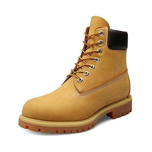 Confort de oto?o e invierno para hombres con botines impermeables c¨¢lidos de felpa de gran tama?o 45