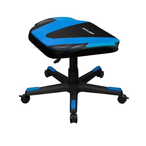DXRacer DFR/FX0/NB Newedge Edition Adjustable Storage Ottoman Footstool Chair Gaming Seat Pouf Furniture (Black/Blue) For Sale