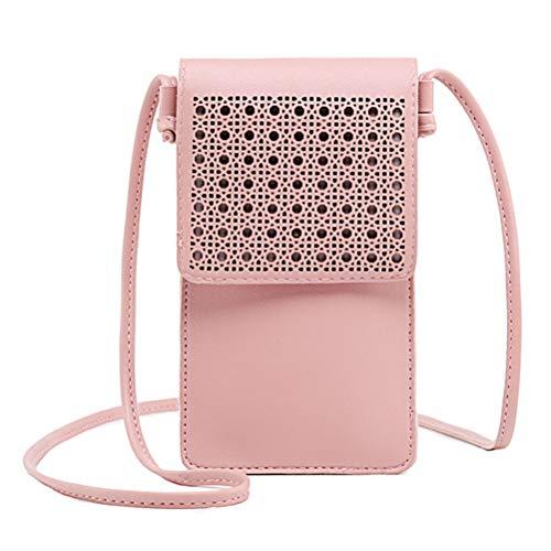 (Honeststar Cell Phone Bag, Leather Crossbody Bag Mini Phone Purse Wallet with Shoulder Straps)
