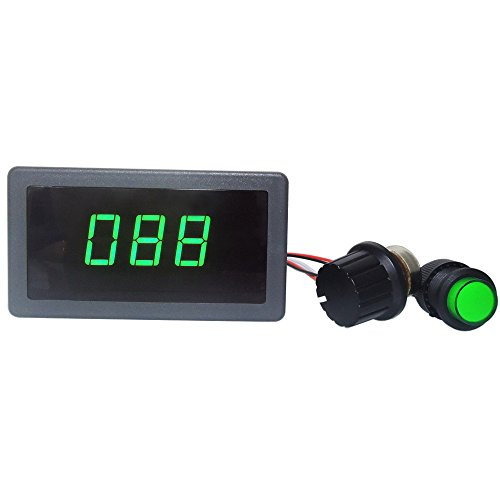 uniquegoods 6V 12V 24V Digital Display LED DC Motor Speed Controller PWM Stepless Speed Control Switch HHO Driver - Black CCM5D GREEN