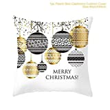 45cm x 45 cm New Living Series Christmas Colorful Decorative Throw Pillow Case Cushion Cover (I)