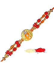 TIED RIBBONS Raksha Bandhan Rakhi for Brother - Best Gifts for Brother Designer Rakhi with Wishes Card
