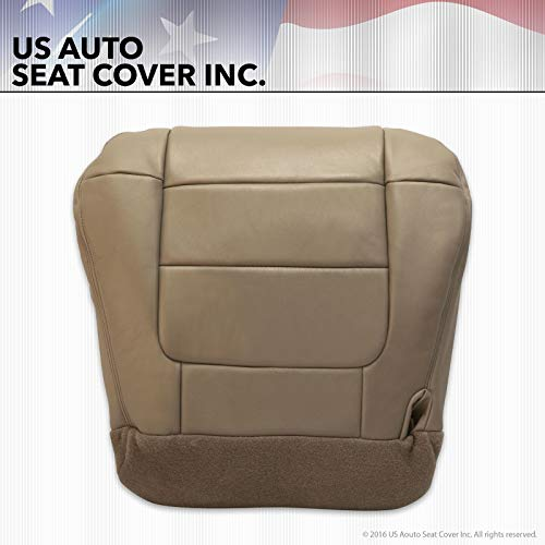 2002 2003 Fits Ford F-150 Lariat XLT Super Crew Driver Bottom Leather Seat Cover Tan