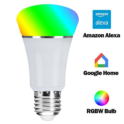 Smart WiFi Bulb,Weton Smart LED Bulb Multicolored Light Bulbs Work with Amazon Alexa Google Home, No Hub Required,Remote Control via Free App for Android & all Smartphones,Dimmable Light Sunrise Light by Weton (Image #1)