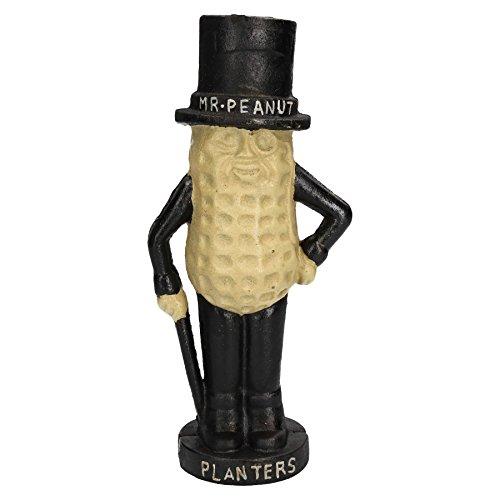 A B Tools Large Mr. Peanut Money Box Bank Jar Planters Mascot Cast Iron Statue Figurine