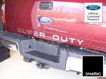 Decal Mods Tailgate Letters Inserts Inlays Decals Stickers for Ford Super Duty F250 F350 F450 (2008-2016) (Thin Decals) - CBM (Black - Lettering Inlay Decal