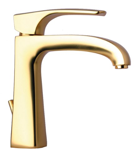La Toscana 89OK211 Lady Single Handle Lavatory Faucet with Pop-Up Drain, Satin Gold by La Toscana