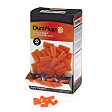 Liberty Glove & Safety DuraPlug Uncorded Disposable Foam Earplug with 32 DB NRR, Orange (Case of 200 Pairs)