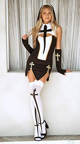 Bad Priest Costume (Music Legs Bad Habit Nun Costume)