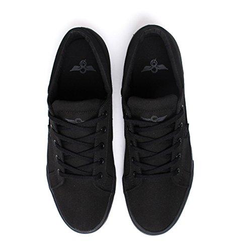 Creative Recreation Merlino - Zapatillas Hombre Negro - Black (Black Canvas)