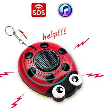 AF-4201 130db Emergency Self Personal Security Alarm Everyday Carry Keychain for Elder Kid Women & Music Speaker - Flashlight LED Keychain - 1 x AF-4201 Personal Security Alarm,1 x Key Ring Pen