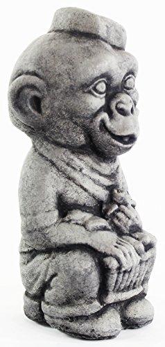 Italian Monkey Statue Home and Garden Statues Cement Figurine Outdoor Sculpture Animal ()