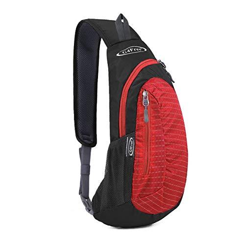 G4Free Sling Bags Men Shoulder Backpack Mini Chest Day Bag Small Cross Body(Red) (Mini Backpack Bag)