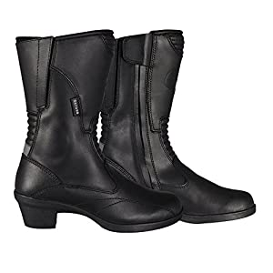 Oxford Valkyrie Ladies Waterproof Leather Motorcycle Boots With ...