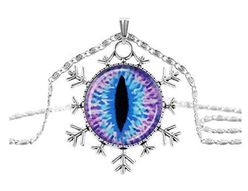[Darkey Wang Women Fashion Halloween Personality 25mm Precious Stones Evil Eye Necklace(2#)] (Gumdrop Costume Ideas)