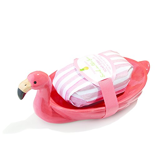 Two's Company Flamingo Plate with - Flamingo Dish Soap