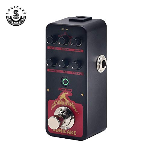 - SONICAKE SANDMAN Digital Preamp Distortion Guitar Effects Pedal w/h 5 Modern-Style Hi-Gain Guitar Amps Models