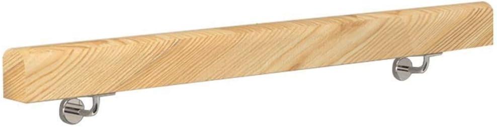 YO-TOKU Escalera de madera barandilla pasamanos de madera Barandilla con soporte de hierro for uso en interiores y al aire libre en los lofts de hospital de jard/ín de infantes y el pasillo Cuidado per