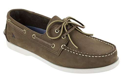 (Rugged Shark Men's Classic Boat Shoes - Odor Control Technology Dark Chocolate 11.5 D M  US)