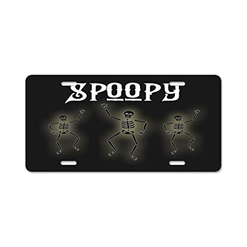 University Of Arizona Halloween Costume (ASUIframeNJK 6inch; X 12inch; Spoopy Halloween Skeleton Costume Printed License Plate Frame for Car,Car Tag,Auto)