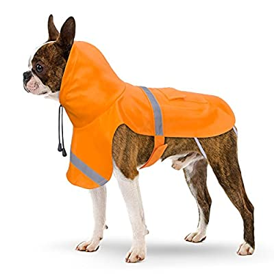PETBABA Dog Raincoat, Reflective Safe at Night Walk, Waterproof Poncho Hood Suitable Rainy Day, Rain Coat Jacket Slicker in Winter Cold Snow Weather by PETBABA