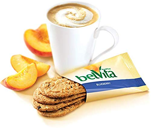 belVita Blueberry Breakfast Biscuits, 5 Count Box, 8.8 Ounce (Pack of 6)