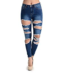 G-Style USA Women's Destroyed Skinny Jeans - Multiple Styles