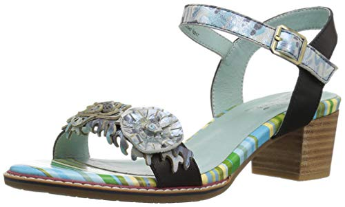 Sandals Step by Multi Black Aradya Spring Women's L'Artiste wvzn4Xqv