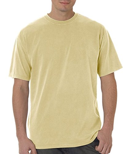 Adult heavyweight cotton classic t-shirt. (Maize) (X-Large) (Maize Color)