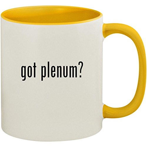 got plenum? - 11oz Ceramic Colored Inside and Handle Coffee Mug Cup, Yellow