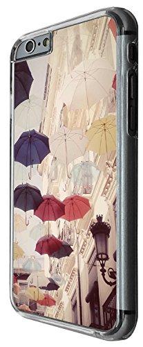 1446 - Cool Fun Trendy cute umbrella collage Design iphone 5C Coque Fashion Trend Case Coque Protection Cover plastique et métal - Clear