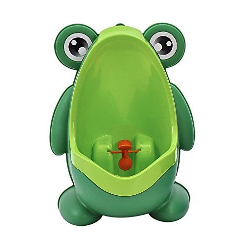Kool KiDz Cute Frog Potty Training Urinal for Boys with Funny Aiming Target (Green) urinal for toddlers