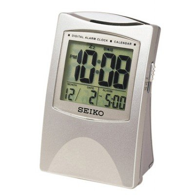 Case Bedside Alarm (Seiko Bedside Alarm Get Up and Glow Clock Silver-Tone Metallic Case)