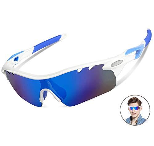 - Polarized Sports Sunglasses For Men Women Cycling Glasses Baseball Running Fishing Driving Golf Hunting Biking Hiking With 5 Interchangeable Lenses