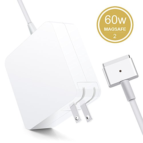 Halcent Macbook Pro Charger, 60W Macbook Magsafe 2 charger with T-Tip, 60w magsafe charger power adapter for MacBook Pro/Air 13 Inch (Mid 2012 Later Model) (Macbook Air 2013)