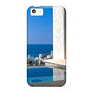 Iphone 5c Hard Back With Bumper Silicone Gel Tpu Case Cover Jacuzzi With Sea View
