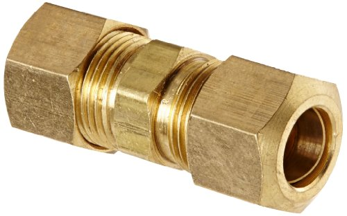 Od Tube (Anderson Metals 50062 Brass Compression Tube Fitting, Union, 3/8