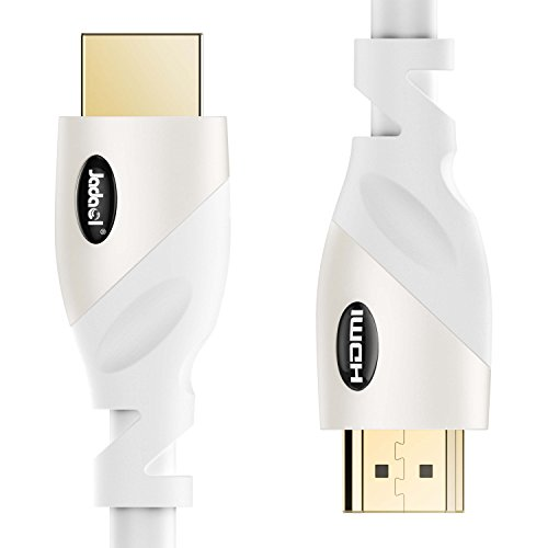 HDMI Cable - Ultra High Speed 18Gbps - HDMI 2.0b Ready - 28AWG Video 4K UHD 2160p HD 1080p 3D - Audio Return & Ethernet with Gold Plated Connectors for TV Xbox Playstation PS3 PS4 (10 Ft, White)