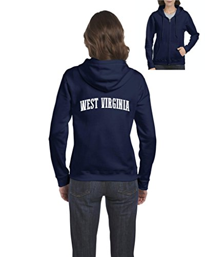 Ugo WV West Virginia Charleston Mountaineers Home West Virginia University Full-Zip Women's Hoodie (Mountaineer Zip)