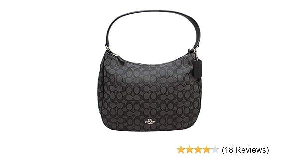 Coach Zip Shoulder Bag in Signature fabric Jacquard (Smoke Black) (Fabric   Handbags  Amazon.com 2ee3fca2575f2