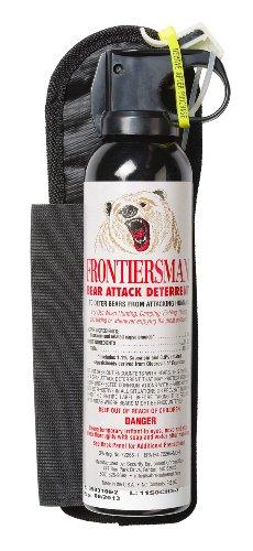 SABRE FRONTIERSMAN Bear Attack Deterrent with Hip Holster – Maximum Strength and Maximum Range – 35 Feet (9.2 oz), Outdoor Stuffs