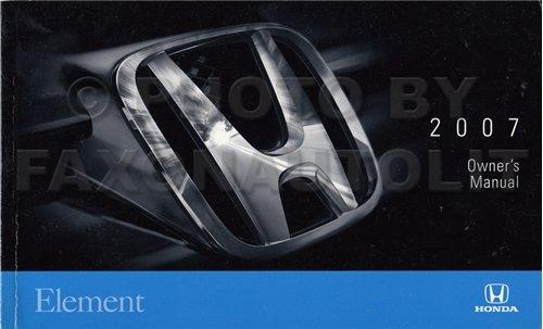 2007 honda element owners manual - 1