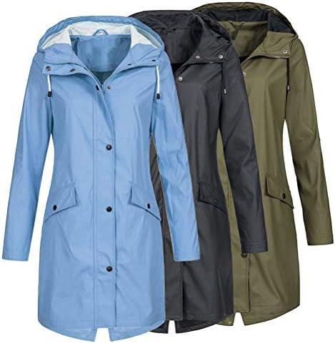 SODSIM Damen Windbreaker Große Größen Atmungsaktiv Outdoor Jacke mit Kapuze Übergangsjacke Frauen
