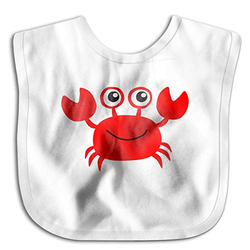 Red Crab Funny Baby Bibs Burp Infant Cloths Drool Toddler Teething Soft Absorbent ()