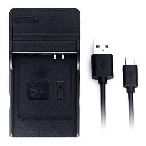 DMW-BCM13 Ultra Slim USB Charger for Panasonic DMC-TZ55, DMC-TZ60, DMC-TZ61, Lumix DMC-FT5, DMC-TS5, DMC-TZ70, DMC-ZS40, DMC-ZS50 Camera and More