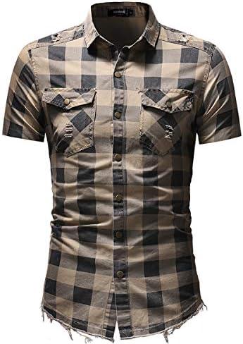 Camisa Casual de Manga Corta para Hombres,Camisas Casuales ...
