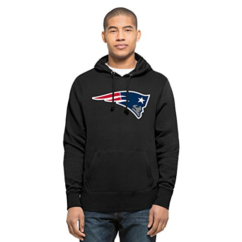 NFL New England Patriots Men's '47 Headline Pullover Hoodie, X-Large, Jet Black