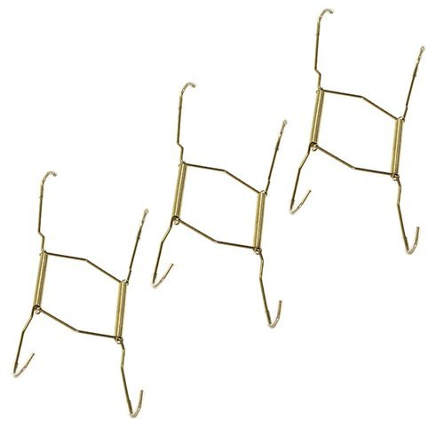 (Hillman 122048 Plate Hanger, Small, 5-1/2 Inch to 8 Inch with Tip Protectors ... (3 Pack))