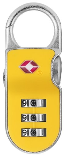 Yale YTP2/26/216/1 TSA Recognized Travel Lock with 3-Dial Resettable Combination, 1-Inch Wide, Assorted Colors