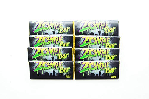 Zombie White Chocolate Bars - Gourmet Chocolate - Zombie Chocolate Gift For All Occasions, Pack of 4, by Sugar Plum Chocolates